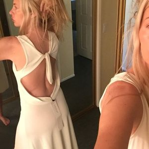 sexy open back VALENTINO DRESS in pale lime S